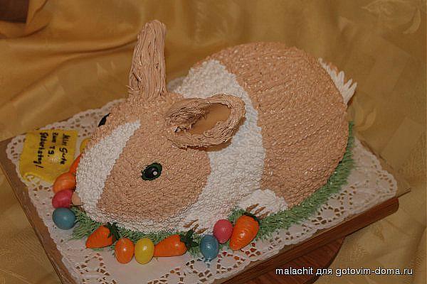 Торт с кремовым украшением фото