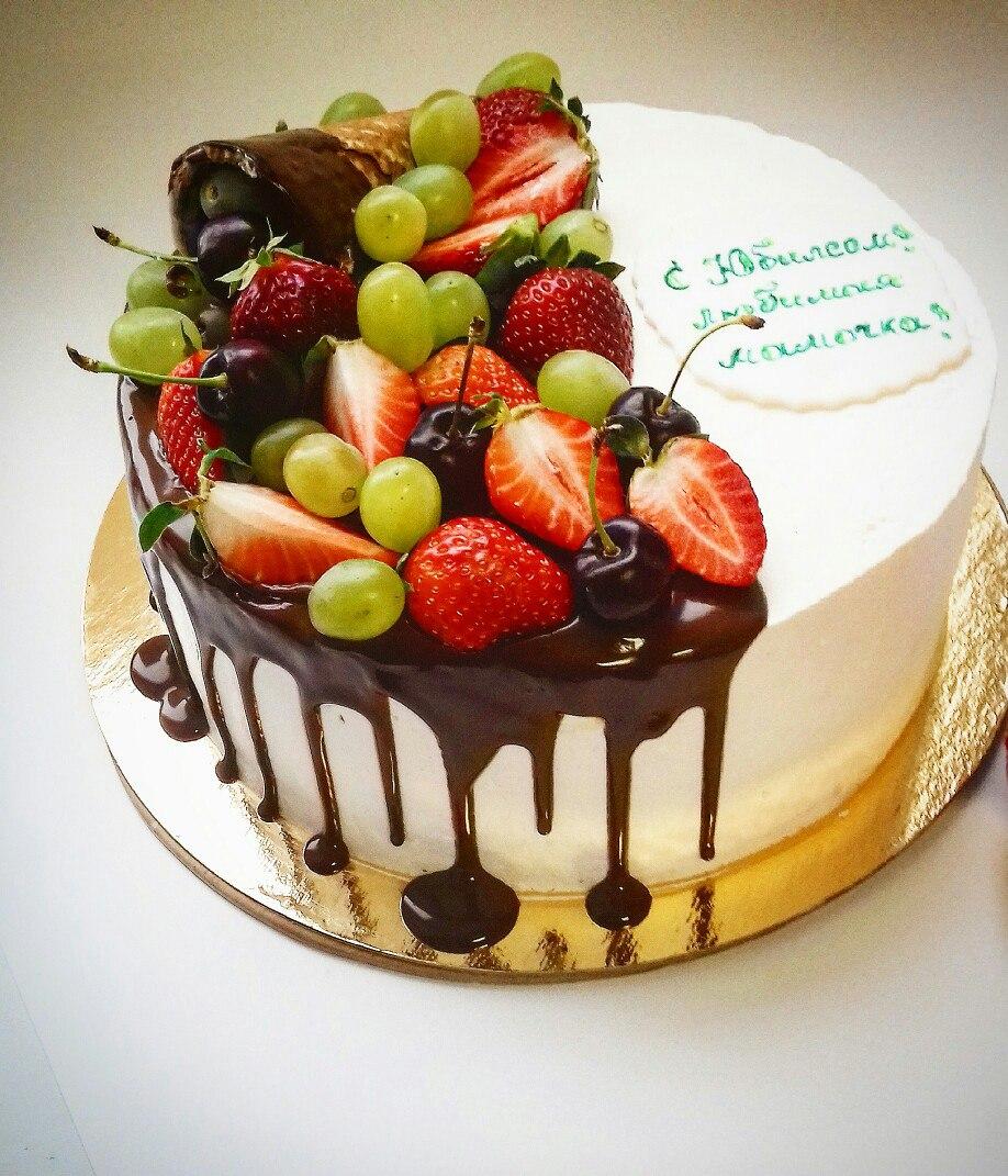 Как сделать торт с шоколадом и фруктами 484