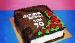 Торт 3D с кремовым украшением